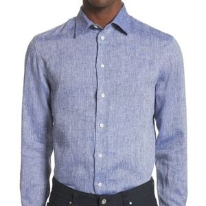 EMPORIO ARMANI Regular Fit Chambray Sport Shirt